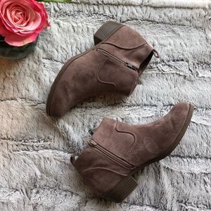 Women's Brown Ankle Boots Sz 8.5